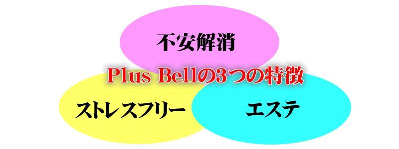 PlusBellの3つの特徴